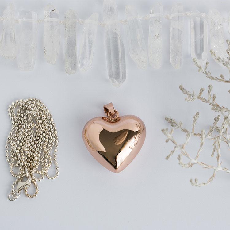 Llamador de angeles corazón cobrizo