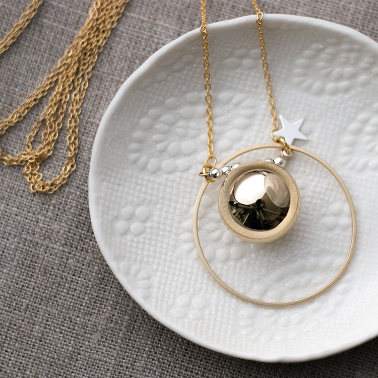 Harmony ball necklace gold plated