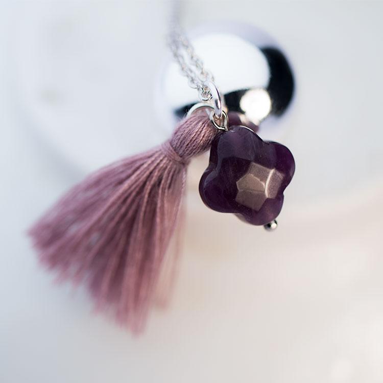 Pregnancy necklace Violet