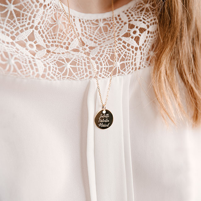 Personalised necklace Valentine