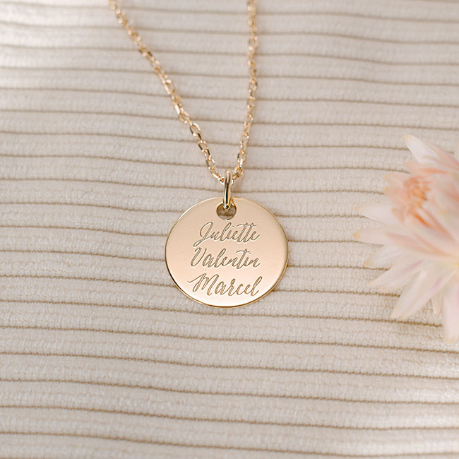Personalised necklace Valentine